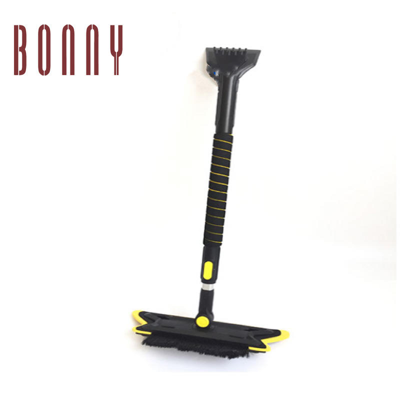 Wholesale products multi-function expandable cleaning car snow brush with ice scraper with led light