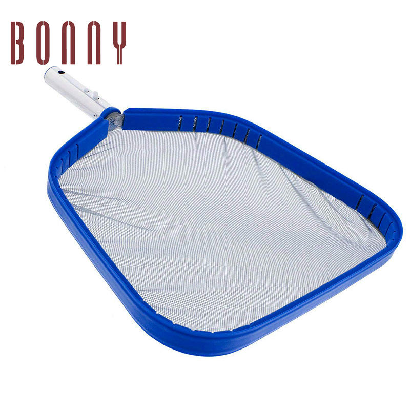 Heavy Duty Swimming Pool Leaf Net Skimmer Rake with Nylon Medium Fine Mesh for Cleaning Swimming Pools, Hot Tubs, Spas and Fountains
