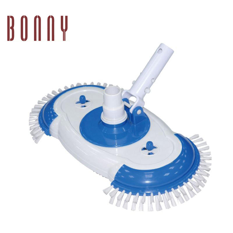 Swiveling Vacuum Spa Brush Vacuum with Air-Relief Head Perfect for Vinyl Lined Pools and Start-ups on Plaster Pools