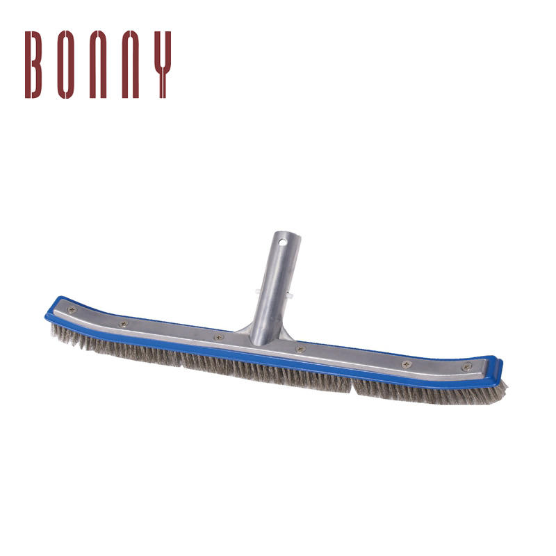 "Heavy Duty Pool Brush Premium 18"" Aluminium Swimming Pool Cleaning Brush with Stainless Steel Bristles"