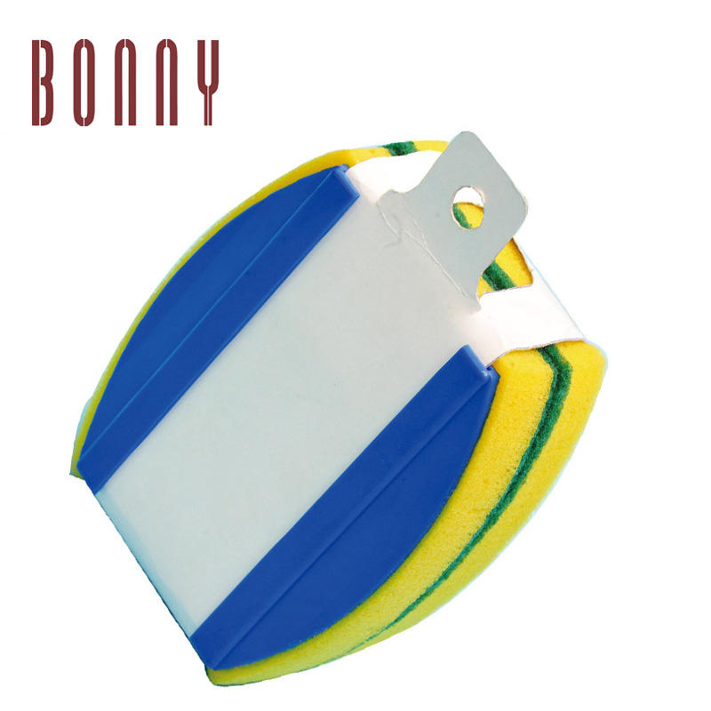 Bonny Hand-Held Swimming Pool Wall and Floor Scrubber Pad Brush with Molded Handle