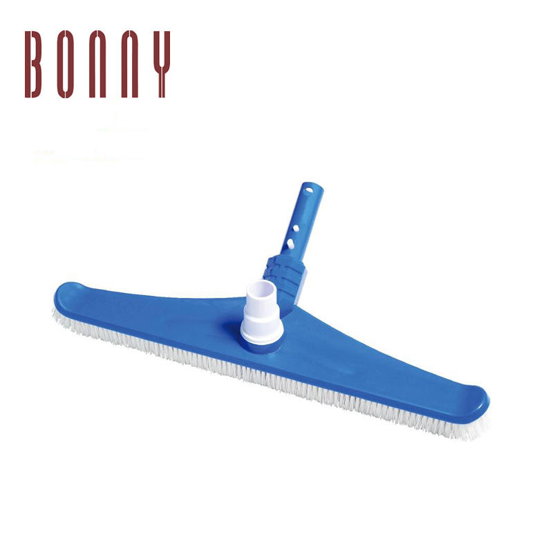 PP / Nylon pool vac brush - wall brush with Australian Style Handle for in ground pools