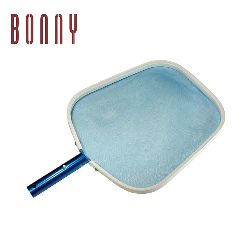 Swimming pool Aluminum Handle Heavy Duty clean accessories leaf skimmers with PE net