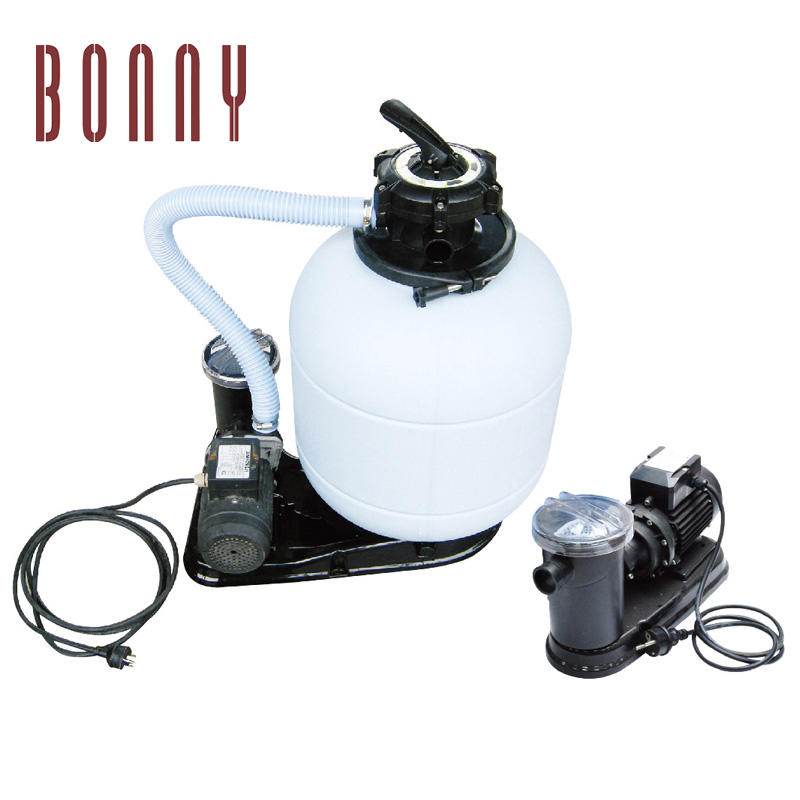 swimming pool top-mount water rapid sand filter tank with pump combo