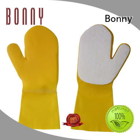 silicone bath latex cleaning washing rubber sponge gloves with sponge