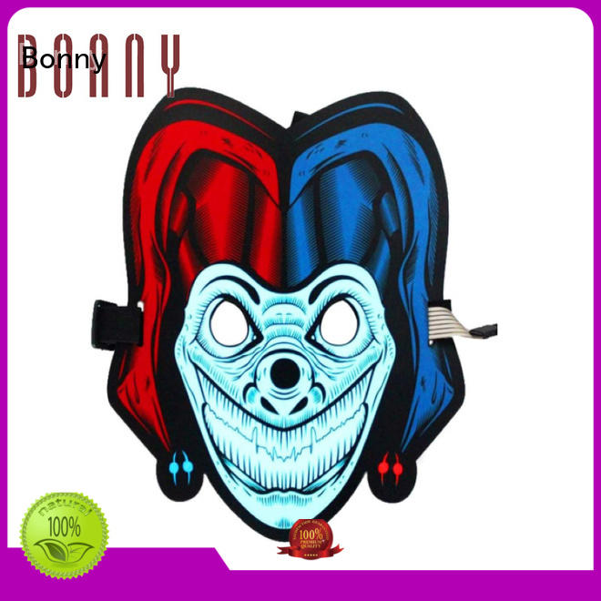 Sound Reactive Soft face LED Mask Voice Control DJ Mask for Festival Party Halloween