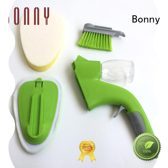 Bonny plastic sponge window cleaner washer wiper with squeegee spray bottle