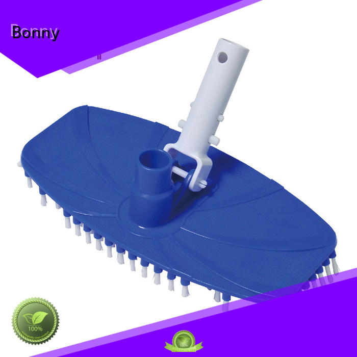 flexible swimming pool deluxe vacuum head with brush