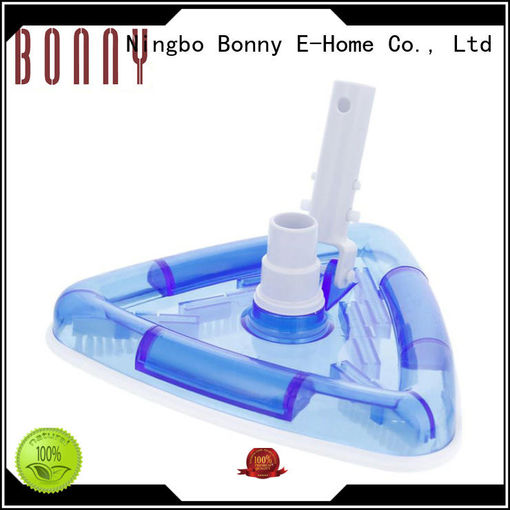 swimming pool deluxe vacuum cleaner triangular transparent spa vacuum head brush with swivel